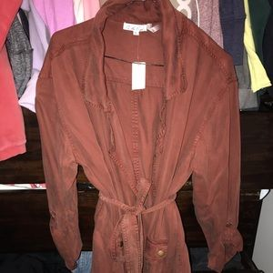Anthropologie BRAND NEW NEVER WORN Rust Jacket